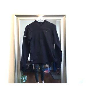Nike   Black 1/4 Zip Dri-FIT Running Hoodie - Sz S